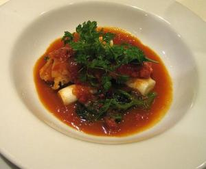 Poached Lobster-Tails In Court Bouillon