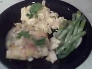 Stuffed Flounder with Fettucine Alfredo and Asparagus - Part 6 : Serving
