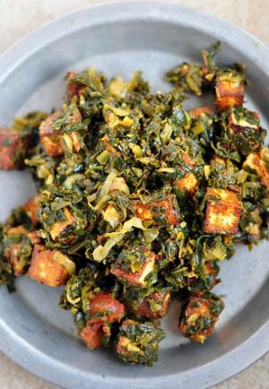 Stir Fried Spinach With Tofu