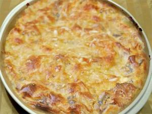 Potato And Mushroom Gratin Savoyard