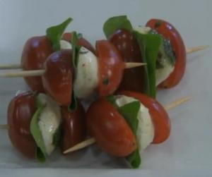 Marinated Mozzarella and Basil Caprese Salad