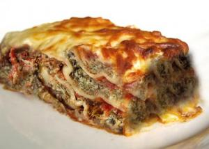 Three Cheese Spinach Lasagne