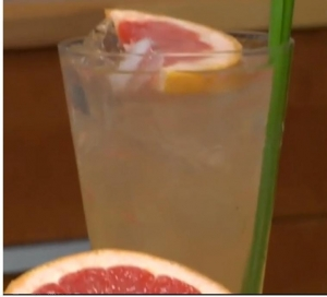 Pink Grapefruit Greyhound Cocktail