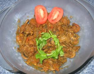 Shrimp & Mushroom Curry