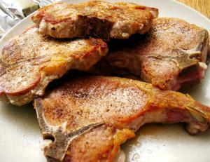 Pork Chops Flambe