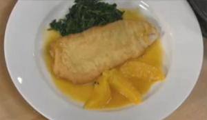 Crispy Fish with Orange Ginger Sauce and Sauteed Spinach Part 2- Frying Fish and Preparing Sauce