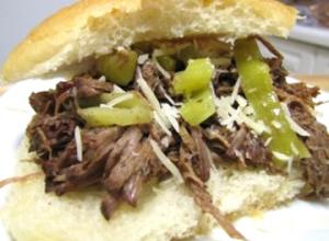 American Style Beer and Beef Sandwiches