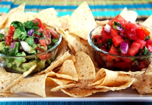 Homemade Salsa and Guacamole
