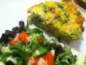 Low Carb Quiche With Broccoli And Swiss Cheese