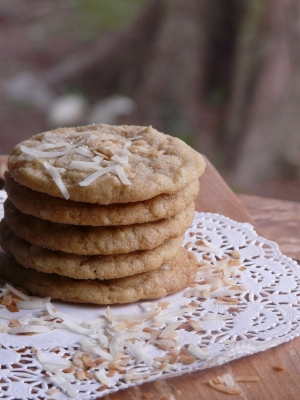 Coconut oatmeal cookies