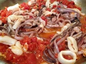 Spicy Sicilian-Style Calamari