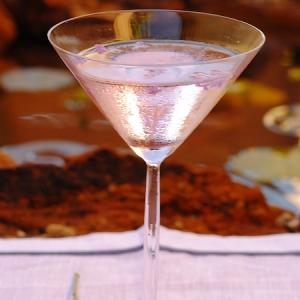 Exotic lavender martini.