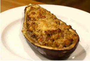 Baked Stuffed Eggplant Creole