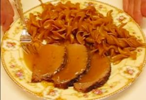 Delicious Crock-Pot Eye of Round Roast Beef with Zesty Gravy