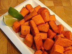 Lime and Chipotle Glazed Sweet Potatoes Or Yams