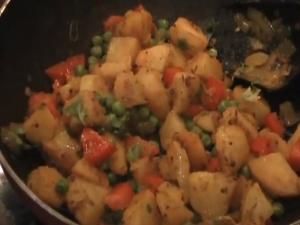 Potatoes Peas / Aloo Matar Sabji