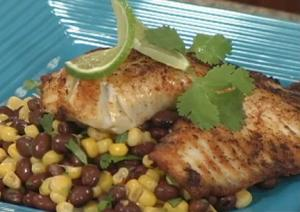 Tilapia with Corn and Black Bean Salad