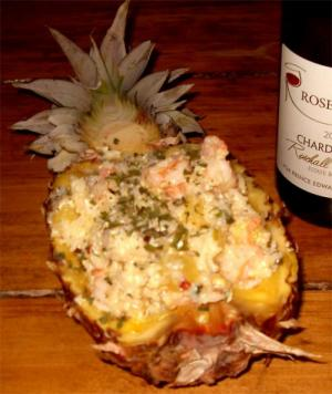 Buffet Shrimp Pineapple