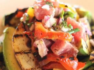 Ahi Tuna and Grilled Vegetable Salad