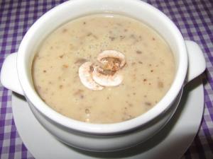 Microwave Fresh Mushroom Soup