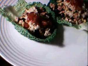 Quick Chicken Lettuce Wrap