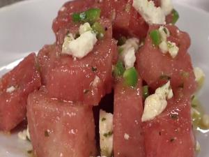 Watermelon Feta Salad with Butterfly Kiss Moscato