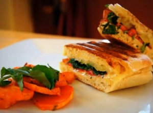 Three-Cheese Grilled Sandwich