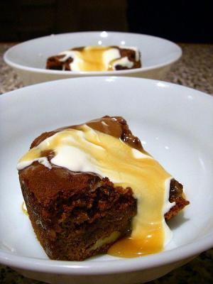 Rhubarb Toffee Pudding