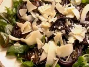 Grilled Red Onion Salad with Parmesan Cheese and Sage