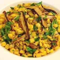 Warm Sweet Corn Shiitake Mushroom And Arugula Salad