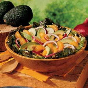 healthy thanksgiving meal - orange and avocado salad