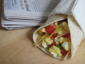 Scrambled Egg Breakfast Burrito