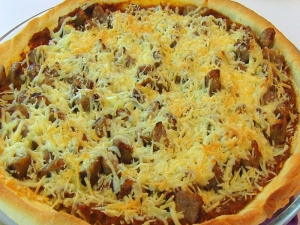 Betty's Thin Crust Italian Sausage Pizza