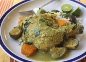 Fragrant Green Coconut Curried Chicken