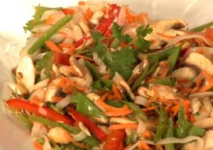 Thai Style Noodle And Vegetable Salad