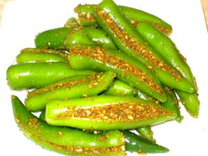 Spicy Green Chili Pickle