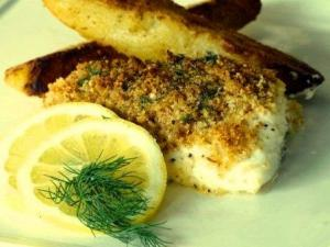 Baked Marinated Halibut