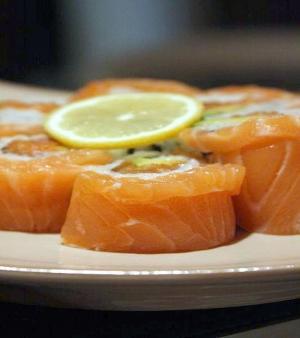 Ham and Cheese Sushi Rolls