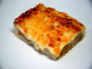 Vegetable Cannelloni with Cream Sauce