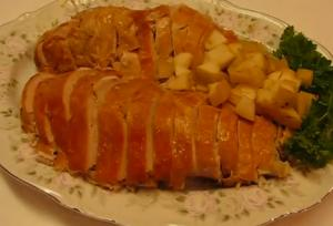 Fanciful Christmas Roasted Turkey Breast