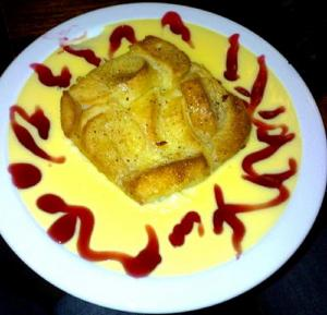 Vincent Price's Bread Pudding with Creme Anglaise