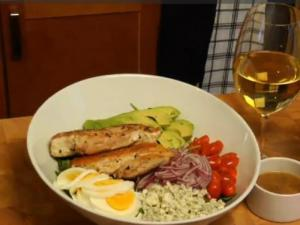 Cobb Salad and Warm Bacon Vinaigrette