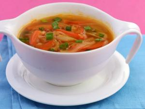 Spicy Stir Fry Soup ( Low Calorie Healthy Soup)