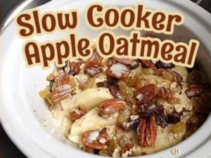 Slow Cooker Apple Oatmeal Breakfast Dessert