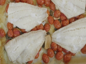 Baked Fish Fillets with Tomatoes