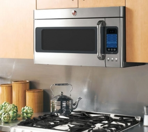 An over the range microwave is a great space saving option.