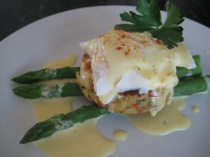 Crab Cakes in Benedict  Style