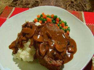 Meatloaf and Mushroom Gravy