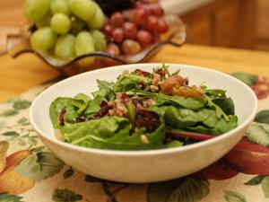 Roasted Grapes and Wild Rice Salad