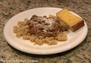 Spaghetti and Meat Sauce for Kids